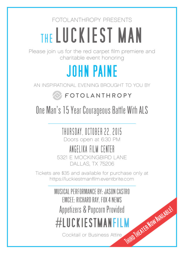 Luckiest Man Alive Invitation JS
