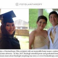 Fotolanthropy Update: Bayleigh Philips is a High School Grad!